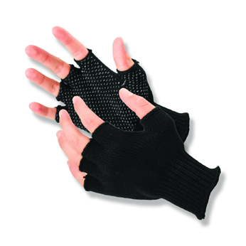 HALF FINGER BLACK DOT GLOVES